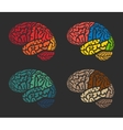 Isolated abstract colorful brain logo collection vector image vector image