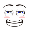 isolated happy emoticon vector image