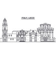 italy lecce line skyline vector image vector image