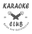Karaoke club microphone retro song vector image vector image