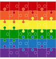 lgbt flag lgbt puzzle symbol pride lgbt vector image vector image
