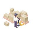 Loading and Moving Distribution Center vector image