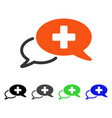 medical chat flat icon vector image vector image