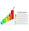 modern design graph vector image