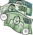 money talks saying cartoon vector image vector image