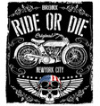motorcycle label t-shirt design with of custom vector image vector image