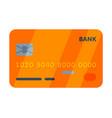 orange credit card online payment service vector image