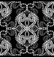 paisley black and white seamless pattern floral vector image