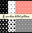 polka dots seamless patterns vector image vector image