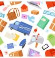 postoffice postman delivers mails vector image