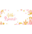 princess party items background vector image vector image