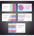 rainbow cards vector image