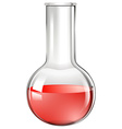 Red liquid ing beaker glass vector image vector image