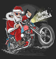 santa claus christmas usa america tour biker motor vector image vector image