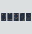 set elegant banners with glitter gold frame vector image vector image