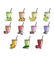 Set Of Smoothies vector image