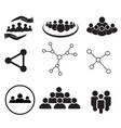 set of team work icon on white background group vector image