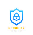 shield icon security concept vector image vector image