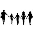 silhouettes happy family walking vector image