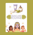 skincare routine face skin vector image