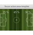 Soccer action areas template vector image vector image