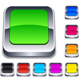 square 3d buttons vector image vector image