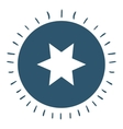 star isolated icon design vector image vector image