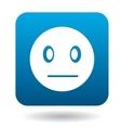 Suspicious emoticon icon simple style vector image vector image