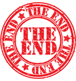 The end stamp vector image vector image
