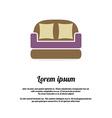 Vintage Brown Sofa vector image vector image