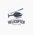 vintage logo flying helicopter vector image