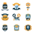 VIP club logo and emblems set vector image vector image