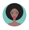 young african american woman beautiful girl vector image vector image