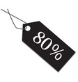 80 percent tag on white background vector image