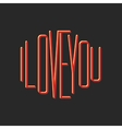 I love you note lettering print t-shirt vector image