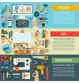 Set of flat design creative process concepts vector image