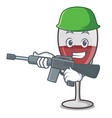 army wine character cartoon style vector image vector image