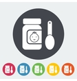 Baby food flat icon vector image