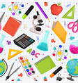 back to school pattern vector image vector image