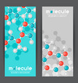 banners with molecular structure abstract vector image vector image