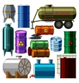 Barrel tanks set vector image vector image