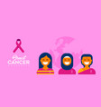 breast cancer care diverse girl group for support vector image vector image