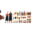 brewery craft beer pub - small business graphics vector image vector image