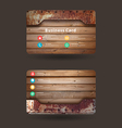Business card template with wood texture vector image vector image
