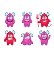 candy monsters emoticons set vector image vector image