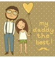 Card for fathers day vector image vector image