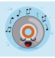 cd icon Kawaii and technology graphic vector image vector image