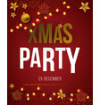 christmas party poster with stars vector image