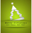 Christmas tree design with origami paper style vector image