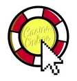 Color vintage online casino emblem vector image vector image